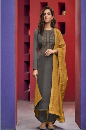 AGOG Deepsy Suits Royal Touch 3 Mini Silk With Self Embroidery Suits 86002