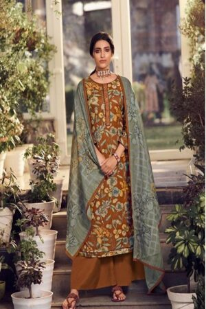AGOG Glossy Simar Gunjan Pure Pashmina Digital Print With Neck Embroidery Suits 775