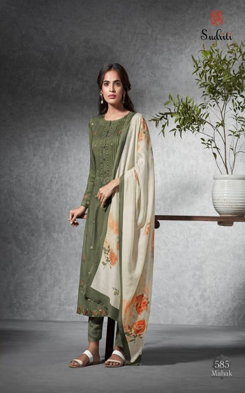 AGOG Sudriti Mahak Pashmina With Embroidery Suit 585