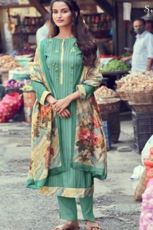 Sahiba Sudriti Phillour Winter Collection Pashmina Digital Print With Embroidery Suits 589