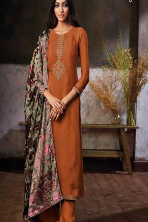 Ganga Fashions Zuri S0293 Summer Collection Pure Habutai Silk Printed With Embroidery and Hand Work Salwar Suits S0293-B