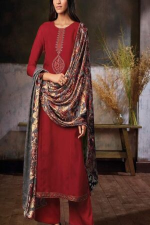 Ganga Fashions Zuri S0293 Summer Collection Pure Habutai Silk Printed With Embroidery and Hand Work Salwar Suits S0293-C