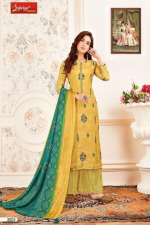 Salvi Fashion Soft Silk Vol No-3 Summer Collection Royal Silk Foil Print With Embroidery Work Suit 3002
