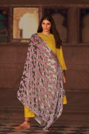 Varsha Fashions Hiraeth Winter Collection Pashmina Texture Printed With Embroidery Salwar Suits HR-22
