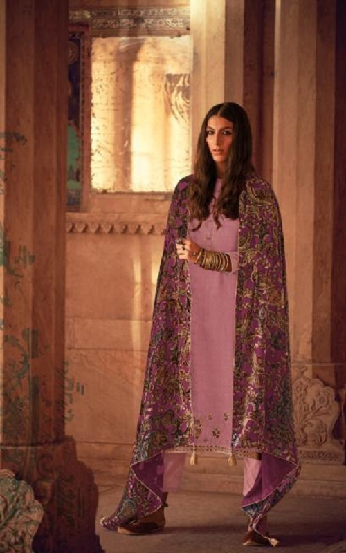 Varsha Fashions Hiraeth Winter Collection Pashmina Texture Printed With Embroidery Salwar Suits HR-23