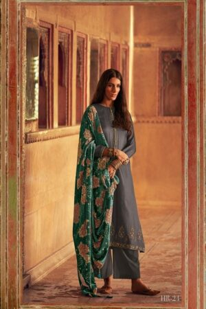Varsha Fashions Hiraeth Winter Collection Pashmina Texture Printed With Embroidery Salwar Suits HR-24