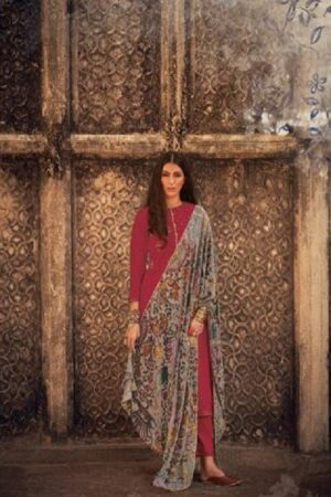 Varsha Fashions Hiraeth Winter Collection Pashmina Texture Printed With Embroidery Salwar Suits HR-27