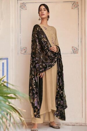 Varsha Fashions Roohi Winter Collection Silk Pashmina With Embroidery Salwar Suits R-11
