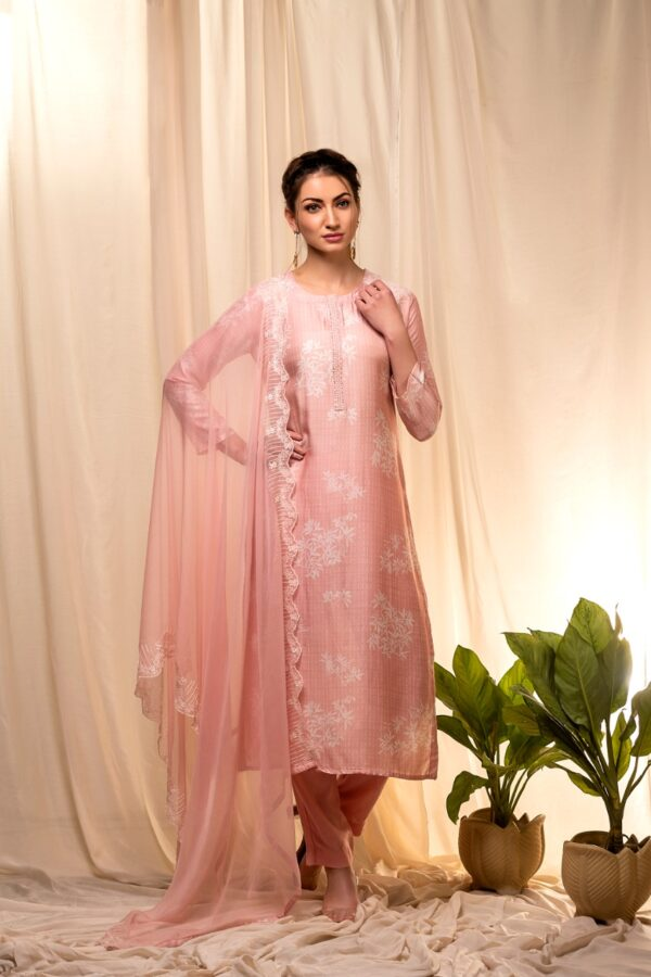 NAARITI ABHISHITI: printed muslin with handwork neck agog01