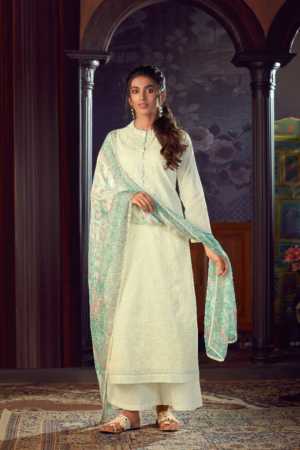 SAHIBA ESTA FRAGRANCE: Cotton Dyed Shifli Emb.With Mukesh Work 106