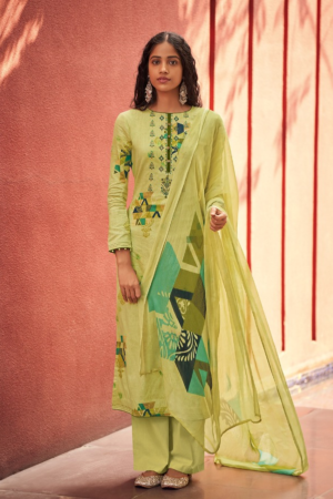 VARSHA FASHION EHRUM ZAHRA: Pure Cotton Satin Printed With Work 116-A