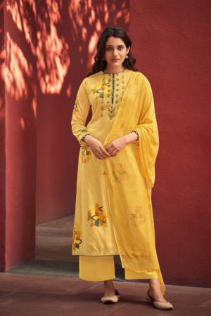 VARSHA FASHION EHRUM ZAHRA: Pure Cotton Satin Printed With Work 116-D