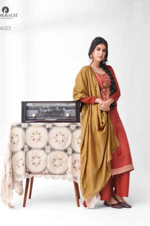 AASHIRWAD MOR BAGH SANGEET: premium silk with embroidery 8372