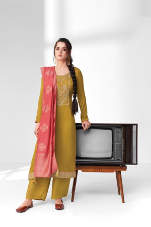 AASHIRWAD MOR BAGH SANGEET: premium silk with embroidery 8373
