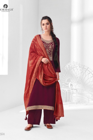 AASHIRWAD MOR BAGH SANGEET: premium silk with embroidery 8374